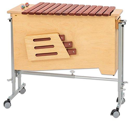 Betzold Musik 84229 - Bass-Xylophon mit Ständerwagen, diatonisch: c-a1 mit fis,b und fis1