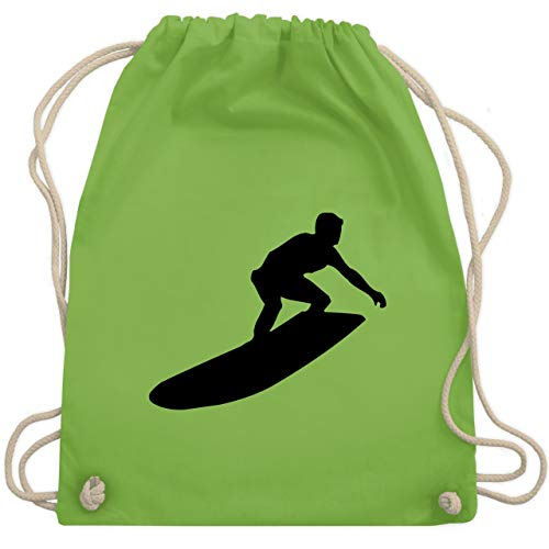 Wassersport - Surfer Silhouette - Unisize - Hellgrün - WM110 - Turnbeutel & Gym Bag