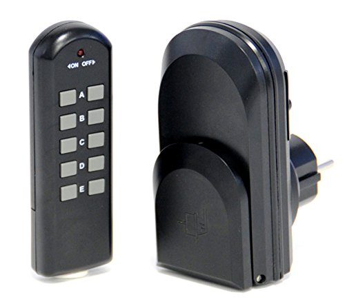 Außen Funksteckdose mit Fernbedienung | Ferngesteuerte Steckdose Funk IP44 | Funkschalter