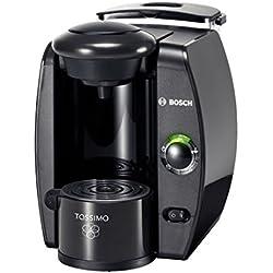 Bosch TAS4000 Machine à café, autonome, entièrement automatique, gris anthracite, pour capsules à café, café crème, cappuccino, espresso, chocolat chaud, latte macchiato, thé