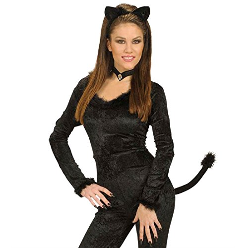 üm Set - Katzenkostüm Set Tierkostüm Katze Kostümset Fasnet Fastnacht Catwoman Tieroutfit ()