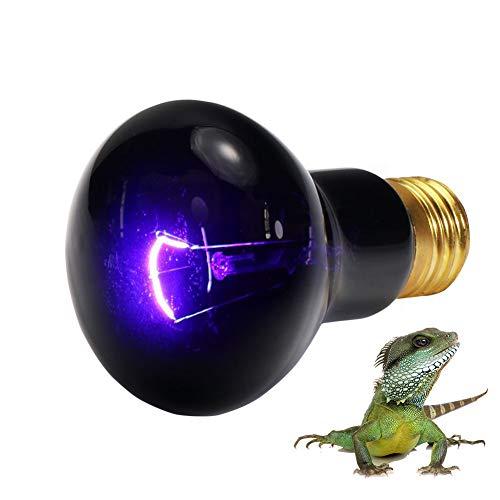 Mallalah Basking Lámpara de Calor Halógena UVA de 25W para Reptiles Acuario de Tortuga Lagarto Iluminada Luz del Sol a Tortuga 360°Giratorio (Bombilla)