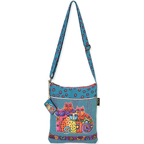 laurel-burch-laurel-burch-long-satchel-bag-105-by-125-inch-feline-clan