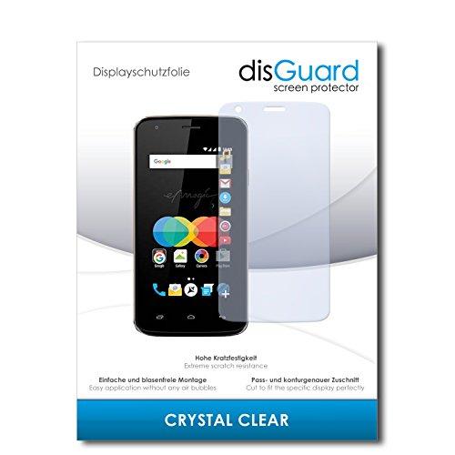 disGuard® Bildschirmschutzfolie [Crystal Clear] kompatibel mit Allview P4 eMagic [3 Stück] Kristallklar, Transparent, Unsichtbar, Extrem Kratzfest, Anti-Fingerabdruck - Panzerglas Folie, Schutzfolie