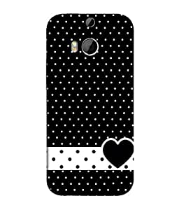 PrintVisa Designer Back Case Cover for HTC ONE M9+ (Blackish dotted superb heart image)