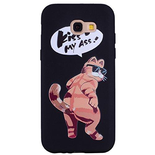 Galaxy A5 2017 Hülle, Anlike Samsung Galaxy A5 2017 (5,2 Zoll) Handy Hülle [Bunte Muster Design] Schutzhülle Etui Bumper für Samsung Galaxy A5 2017 (5,2 Zoll) - Sonnenbrille Katze