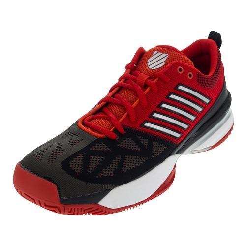 K-Swiss Men' s Knit Shot Tennis Shoes rot (500)