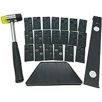 Kit de instalación para suelos de madera laminada con 20 espaciadores, bloque de rosca, barra de tirar y maletero #2-004