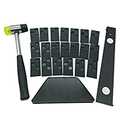 Laminate Wood Flooring Installation Kit with 20 spacers,Tapping Block, Pull Bar and Mallet #81224