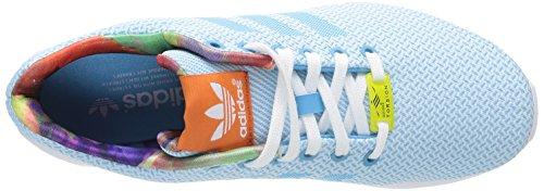 Adidas, ZX Flux Weave W, Scarpe sportive, Donna (Bleu ciel, blanc et rose)