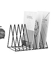 "Pikify Magazine Holder, Desktop File Sorter Organizer, 8 Slot Triangle Shape (12.2"" L X 7"" W X 6.9"" H) - Black"
