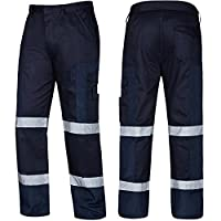 AQUA Premium Hard Wearing Ballistic Cargo Trousers with Tapes and Multi Pockets for Storage. Navy. 48