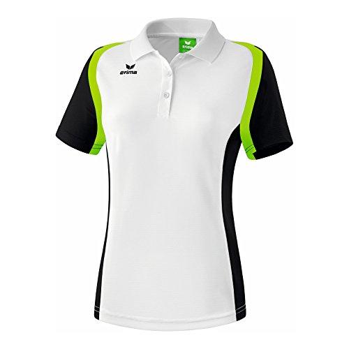 Erima Damen Poloshirt Razor 2.0, Weiß/Schwarz/Green Gecko, 46