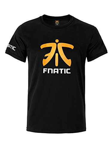 Fnatic Premium Crew Neck T ShirtBlack XL