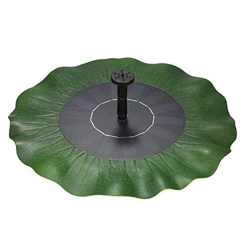 AUFUN 1.4W Solar Springbrunnen, Lotusblatt Teichpumpe Brunnen Solarpumpe Fontäne für Gartenteiche, Fisch-Behälter, Garten Springbrunnen Wasserspiel Dekoration (Type B)