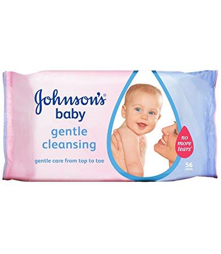 3x Johnsons Baby Nettoyant Doux d'origine 56Lingettes
