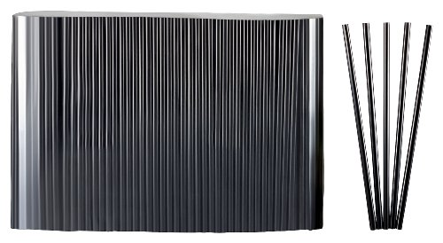 rinkhalme Jumbo schwarz 500 Stk 25cm lang Durchmesser 8mm (Kunststoff-gläser Mit Strohhalmen)