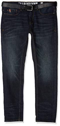 s.Oliver Big Size Herren Loose Fit Jeans 15.808.71.5444, Blau (Blue Denim Stretch 58z4), W42 (Herstellergröße: 42/L30)