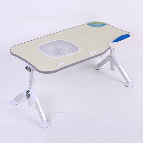 PENGFEI Laptop Betttablett Tragbare Stehpult Klappschreibtisch Auf Dem Bett Multifunktion Faltbar Tischhöhe Einstellbar Mit Maus-Schallwand Lesen 60x33cm (Farbe : Grau, größe : With cooling fan)