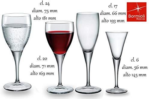 BORMIOLI ROCCO France - Fleur Verre à vin 19 cl x3 France - fds-007206