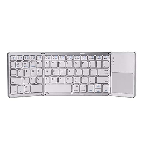 Altsommer Faltbare drahtlose Bluetooth Tastaturmaus Maus, 4.0 & 2.4G Wireless Bluetooth Maus mit Einstelleable Funkmaus Optische Mäuse für PC, Laptop, Android, iOS, Microsoft, Computer -
