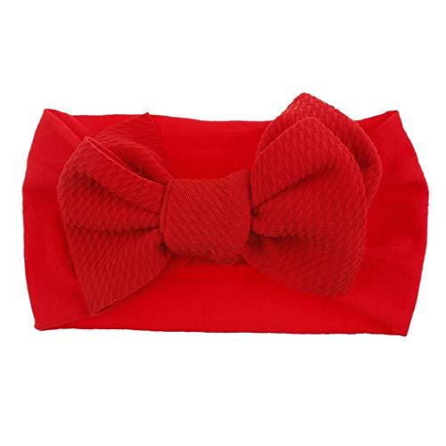 Lazzboy 1 Stück Baby Kleinkind Mädchen Bowknot Stirnband Stretch Haarband Headwear Stirnband, Nordischer Stil Großer Headwrap Für Neugeborene Kids - Ägyptischen Stil Kostüm Schmuck