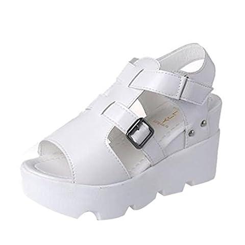 Grosse Chaussure - Femmes Sandales,OverDose Spartiates à Grosses Semelles CompenséEs