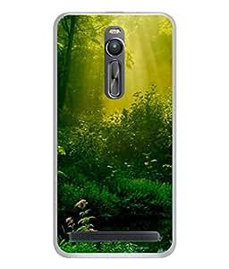 PrintVisa Designer Back Case Cover for Asus Zenfone 2 ZE551ML (Fresh Energetic Good Morning Sun Light Peace Water)