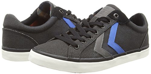 Hummel Deuce Court Waxed Canvas, Baskets basses mixte adulte Noir (Black)