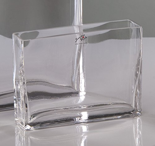 Glasvase Rectangular klar eckig 8 cm Ø 20,0 x 5,0 cm von Sandra Rich (Rechteck-glas-vase)