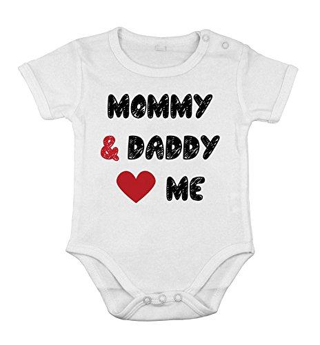 Bebé algodón unisex Recién nacido bodysuit corto one-piece mamá y