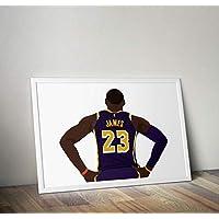 LeBron James Inspiré Poster Print cadeaux - Alternative Sport/Basketball Affiches en différentes tailles (cadre non inclus)