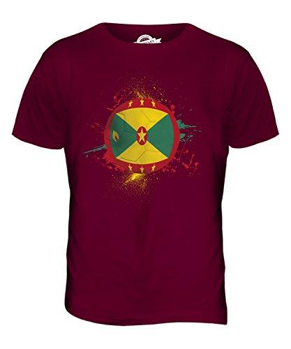 CandyMix Grenada Fußball Herren T Shirt Burgunderrot