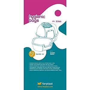 Ferplast FPI 5366 Sachets Hygiéniques pour maisons de toilette Mika et Dama- Lot de 4