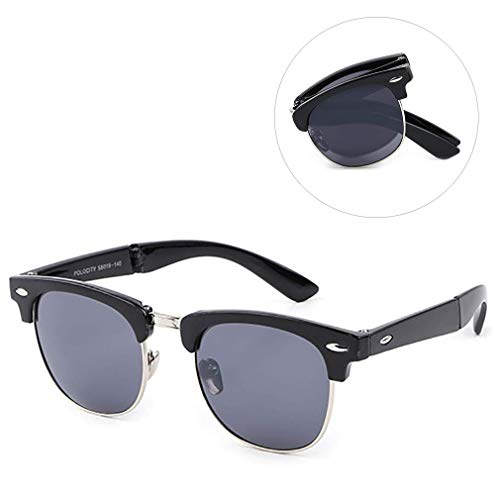 ZUZEN Polarisierte Sonnenbrille Gefaltete Sonnenbrille Gefaltete Sonnenbrille aus Metall UV-Schutz UV400 Celebrity Sonnenbrille