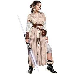 Mask Paradise Rey Damen Kostüm für Star Wars Fans 10tlg Beige - L