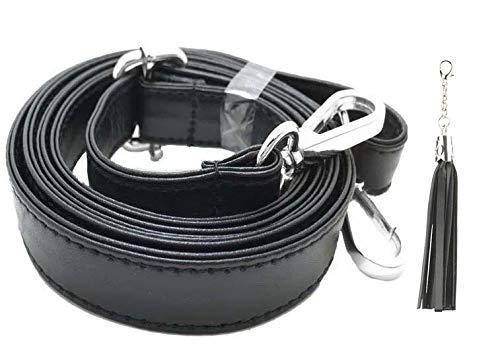 beaulegan Cross-Body-Tasche Riemen-Mikrofaser Leder-Ersatz für Handtasche oder Geldbeutel, verstellbar 80-150cm lang 2cm breit, Gold Schnalle-von Silver - 2 Cm (Wide) -