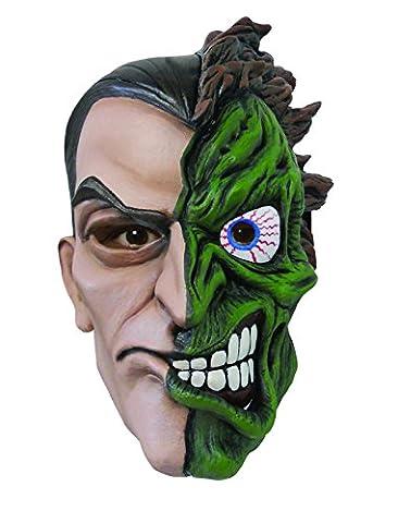 Two Face Deluxe Ganzkopfmaske Latex Maske Batman Schurke Gangster