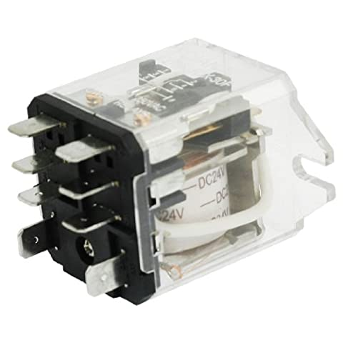 sourcingmap® JQX-30F-2Z Coil Voltage DC 24V 8 Pin DPDT Electronmagnetic Relay