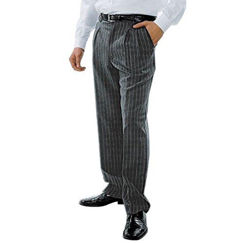 ATELIER DEL RICAMO - Pantalone Uomo Con Pinces A Righe Isacco, Colore: Nero, Taglia: 46