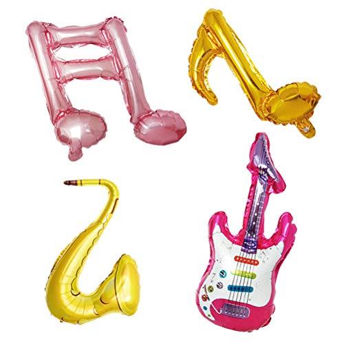 YeahiBaby Musik Note Typ Folien Luftballons Musik Instrument Luftballons für Musik Thema Party Dekorationen 6 Stück