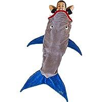 STONCEL Carsebnd Meerjungfrauenschwanz-Decke, Doppel-Polarfleece-Hai-Schlafsack, gemütlich, warm, im Sofa, Bett, Wohnzimmer, Geschenk für Kinder, Teenager