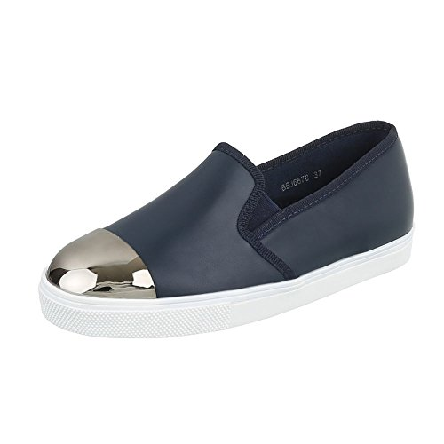Pantofola Da Donna Low-top Mocassini Dal Design Moderno Moderno Blu Scuro