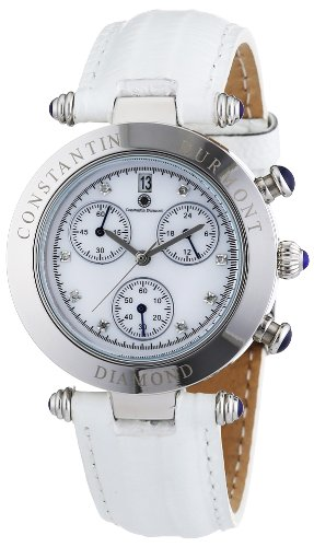 Constantin Durmont Women's Quartz Watch Visage CD-VISL-QZ-LT-STST-WHD with Leather Strap