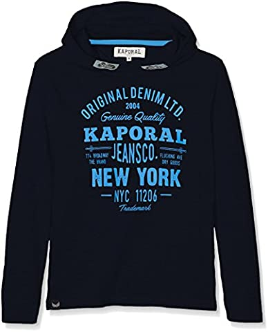 Kaporal Nika - Sweat-shirt à capuche Garçon - Bleu (Navy) - 16 Ans (Taille Fabricant: 16A)
