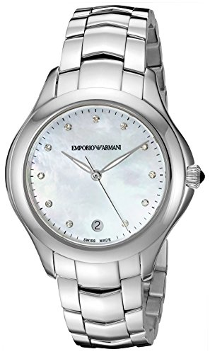 Emporio Armani Swiss Made Women's Quartz Stainless Steel Automatic Watch, Color:Silver-Toned (Model: ARS8502)
