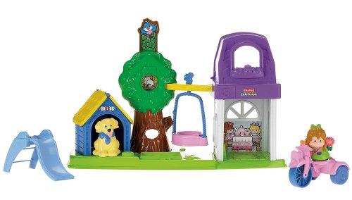 Preisvergleich Produktbild Mattel R6930-0 - Fisher-Price Little People Spielgarten