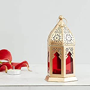 Home Centre Moksha Hanging Lantern - Red