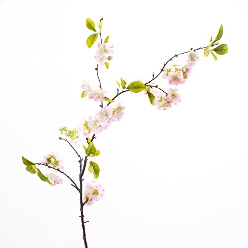 Künstlicher Kirschblütenzweig VALESKA, 55 Blüten, hellrosa, 105 cm - Kunst Zweig / Frühlingsdekoration - artplants