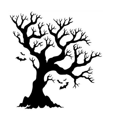 Rokoy decorazioni per la casa di halloween, adesivi murali grande albero silhouette, soggiorno camera da letto cucina ufficio decorazione della parete